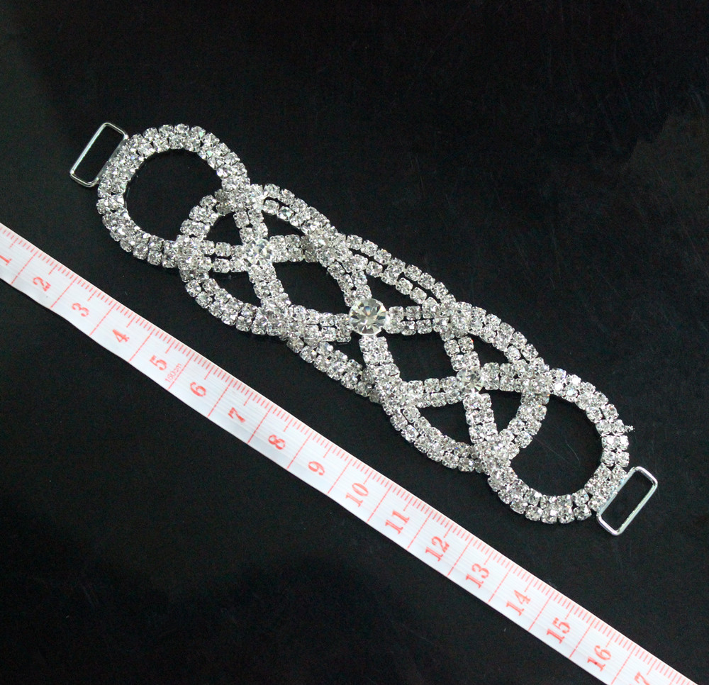 4pcs Clear Crystal Rhinestone Bikini Connectors Belt Buckle For Competion  Suits Swimming Wear ed9e74adca40