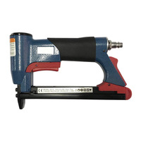 1/2 Fine Crown Nail Stapler Pneumatic Air Stapler Nailer Nail Staple Stapling Gun 4 16mm Woodworking Pneumatic Air Tool NEW