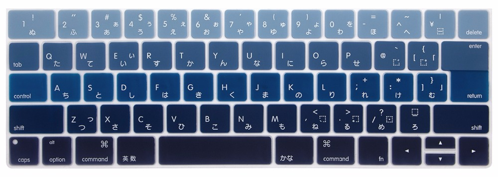 New japanese alphabet silicone waterproof keyboard cover for macbook new japanese alphabet silicone waterproof keyboard cover for macbook pro 13 15 inch with retina touch bar keyboard protector in keyboard covers from thecheapjerseys Image collections