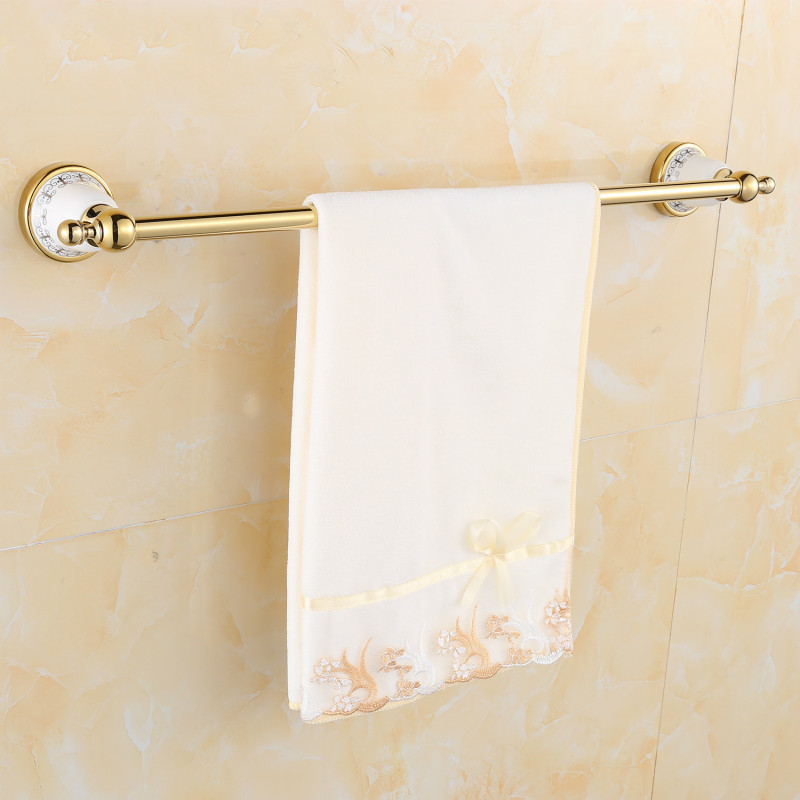 Free shipping Wholesale And Retail Golden Ceramics Bathroom Towel Bar Single Towel Hanger Stainless steel Accessories 752420 krishen kumar bamzai and vishal singh perovskite ceramics preparation characterization and properties
