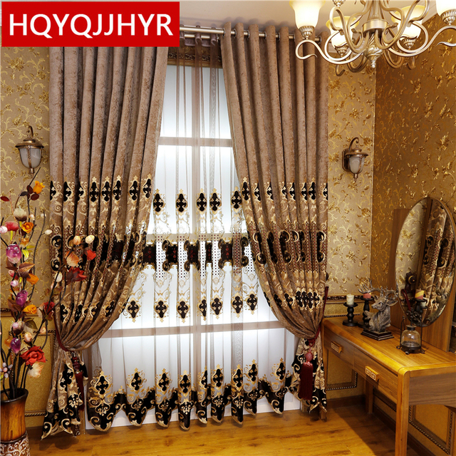 2016 Hot Models European Style Luxury Villa Curtains For Living Room Elegant Tulle Luxurious D