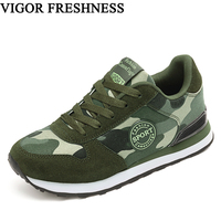 VIGOR FRESHNESS Women Shoes Canvas Sneakers Military Training Shoes Woman Camouflage Shoes Army Green Sneakers Outside Pumps S62