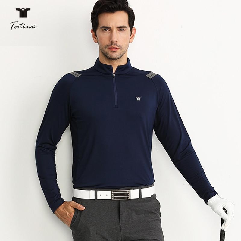 New Men Golf shirts Autunn Winter Long Sleeve Golkf T-shirts Breathable Quick dry Sports Men polo Shirts Men's Top