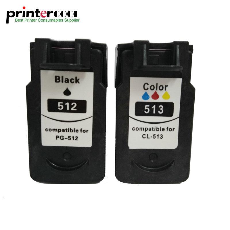 PG 512 CL 513 Cartouche D'encre de Remplacement pour Canon pg512 cl513 PG-512 CL-513 MP240 MP250 MP270 MP230 MP48 MX350 IP2700 imprimante
