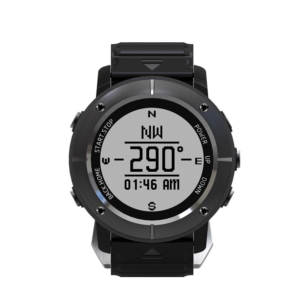 UW80C E ink Display GPS Smart Watch Heart Rate Waterproof Multi Sport Mode Compass GPS Return