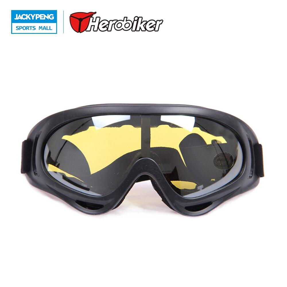 Herobiker Спорт на открытом воздухе мотогонок Мотокросс внедорожных Байк очки ветрозащитный лыжный сноуборд Очки очки