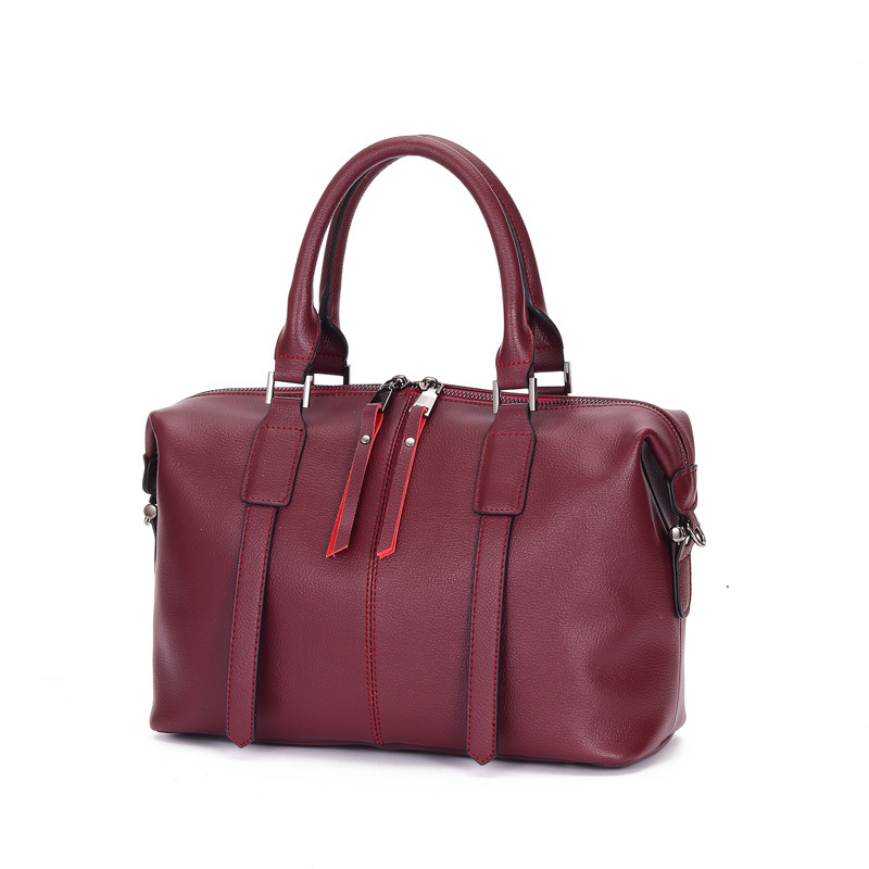 Fashion Women Genuine Leather Boston Bag Simple Designer Handbag Shoulder Bags Office Lady Tote Hand Bag Bolsa Mujer GL005Fashion Women Genuine Leather Boston Bag Simple Designer Handbag Shoulder Bags Office Lady Tote Hand Bag Bolsa Mujer GL005