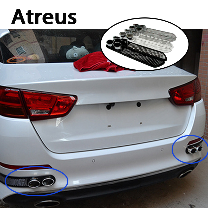 Atreus 3D Automobiles Carbon Exhaust Car Sticker For Abarth 500 Ssangyong Kyron Lifan x60 Saab Toyota Corolla C-HR Accessories exhaust tips on jaguar xe