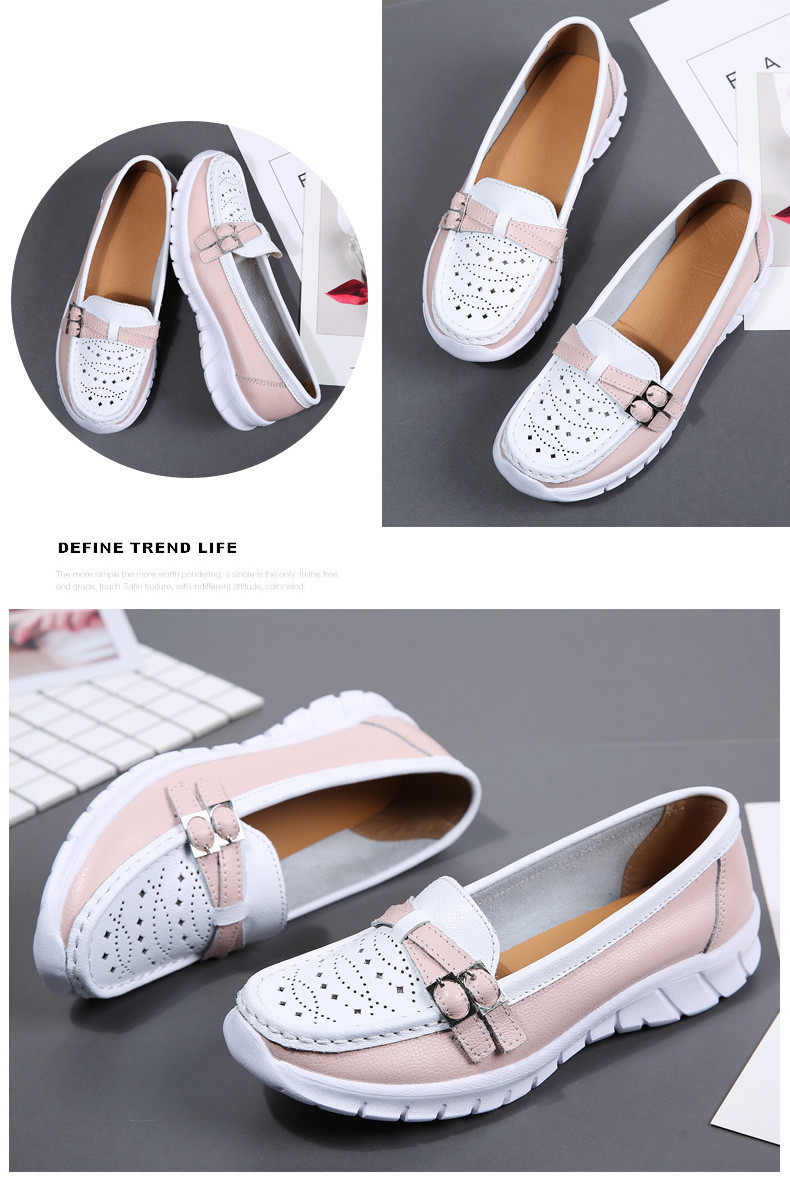 Spring Women Shoes Genuine Leather Handmade Flats Casual Shoes Woman Slip-on Loafers Ballet Flats Ladies Shoes Slipony (29)