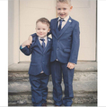 New arrival Custom Made Boy Tuxedos Notch Lapel Children Suit Navy Blue Kid Wedding/Prom party Suits(Jacket+Pants+vest+Tie)