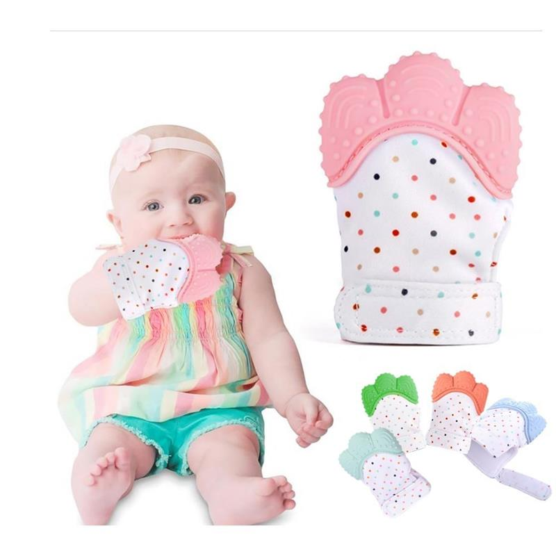 1 Pc Silicone Baby Teether Molar Gloves Teething Toys Food