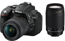 New Nikon D5300 Digital Camera Body & Nikkor AFP 18-55mm Lens & AF Zoom Nikkor 70-300mm f/4-5.6G Lens