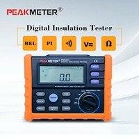 PEAKMETER Analog and Digital 1000V MS5203 Insulation Resistance Tester megger meter 0.01~10G Ohm with Multimeter
