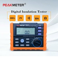 PEAKMETER Analog and Digital 1000V MS5203 Insulation Resistance Tester megger meter 0.01~10G Ohm with Multimeter