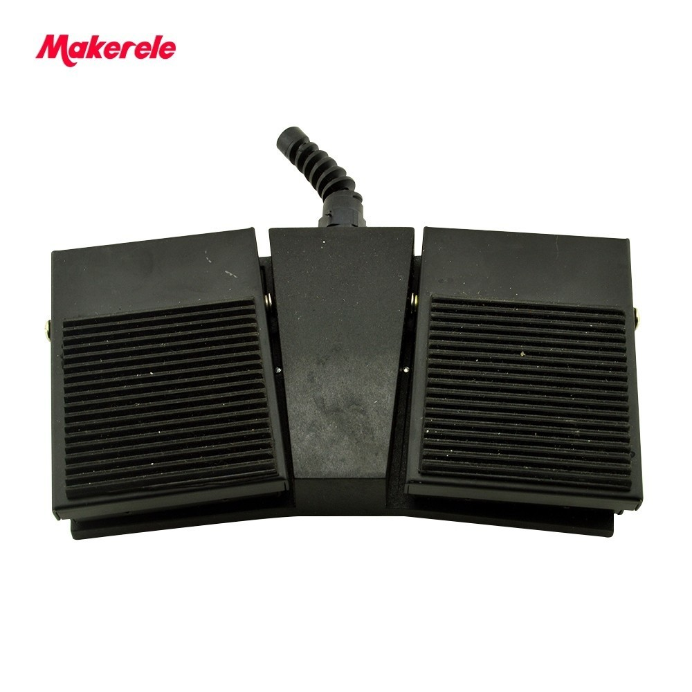 CE black Rubber Surface double pedal foot switch MKTFS1-2H Factory direct Nonslip SPDT NO/NC цена