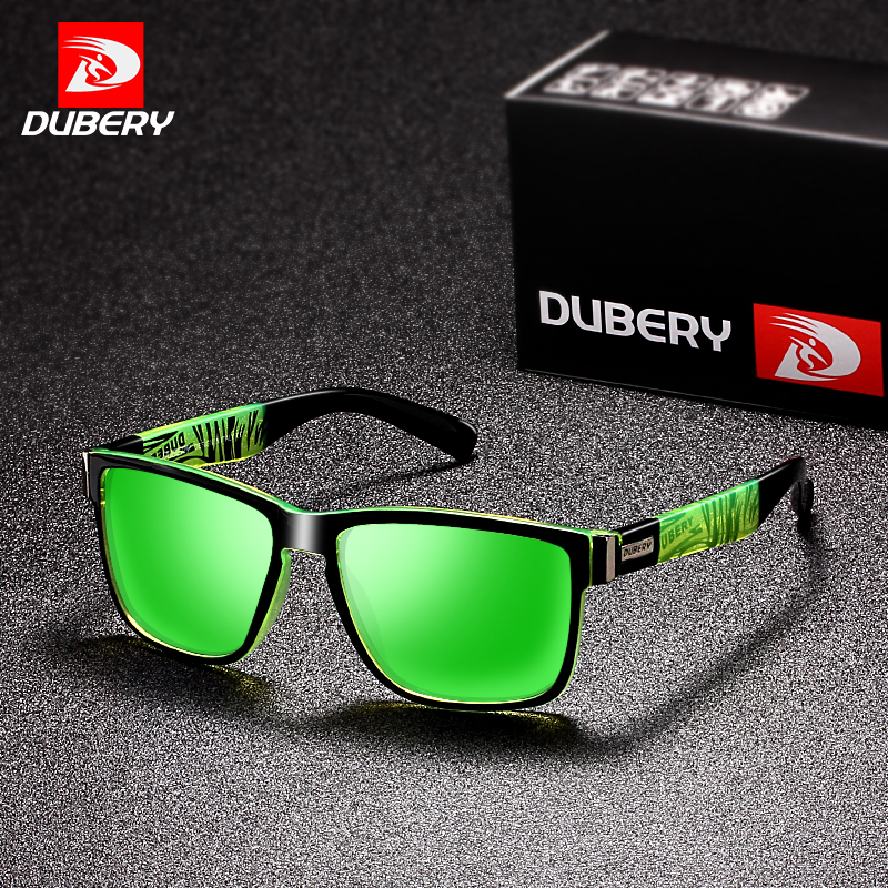 DUBERY 2018 Sport Sunglasses Polarized For Men Sun Glasses Square Driving Personality Color Mirror Luxury Brand Designer UV400