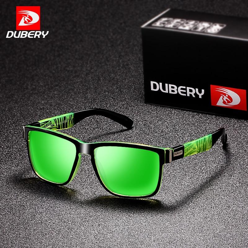 DUBERY 2018 Sport-sonnenbrille Polarisierte Für Männer Sonnenbrille Platz Fahren Persönlichkeit Farbe Spiegel Luxury Brand Designer UV400