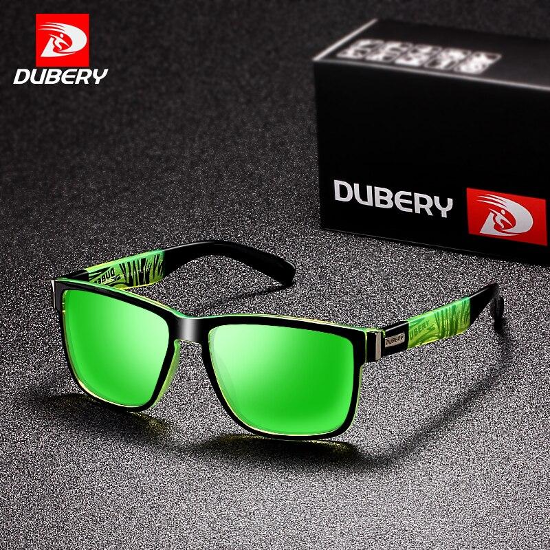 DUBERY 2018 deporte gafas de sol polarizadas para hombres gafas de sol cuadrado personalidad conducción espejo de Color marca de lujo diseñador UV400