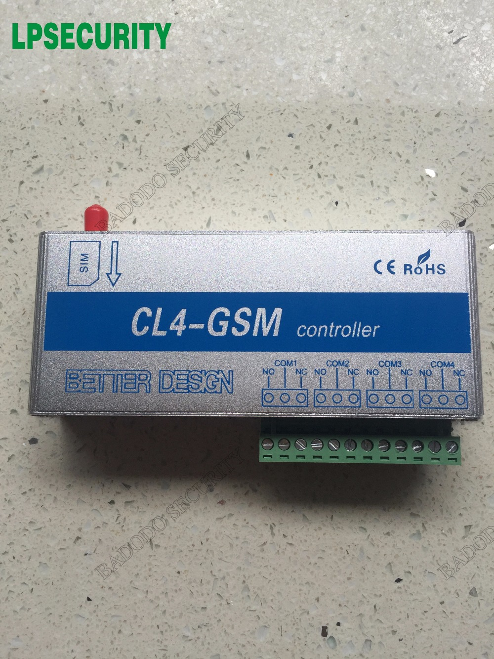 NEW US UK EU Plug 4 relays output GSM Switch SMS Controller CL4 GSM for control
