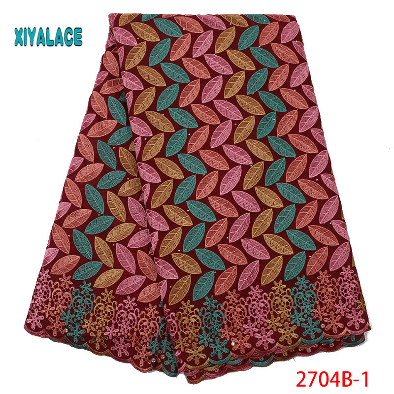 Wholesale High Quality Swiss Voile Lace In Switzerland Pretty100% Cotton Swiss Voile Laces For African Sewing Dress YA2704B-1
