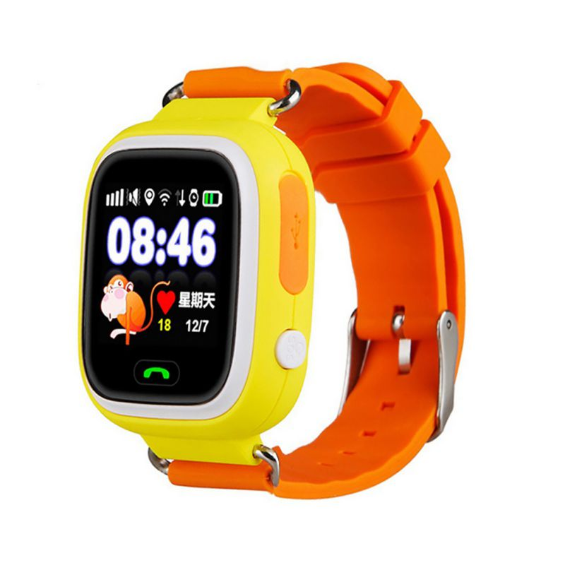 <font><b>Q90</b></font> Children Smart Watch SIM Card Waterproof <font><b>GPS</b></font> Location 1.22inchTouch Screen Passometer Wristwatch Wearable Device Russian image