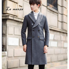 1b465220b3e9b Plus Size 2018 Casual Mens Coats Overcoats Fashion Korean Style Slim Double  Breasted Winter Dress Coat