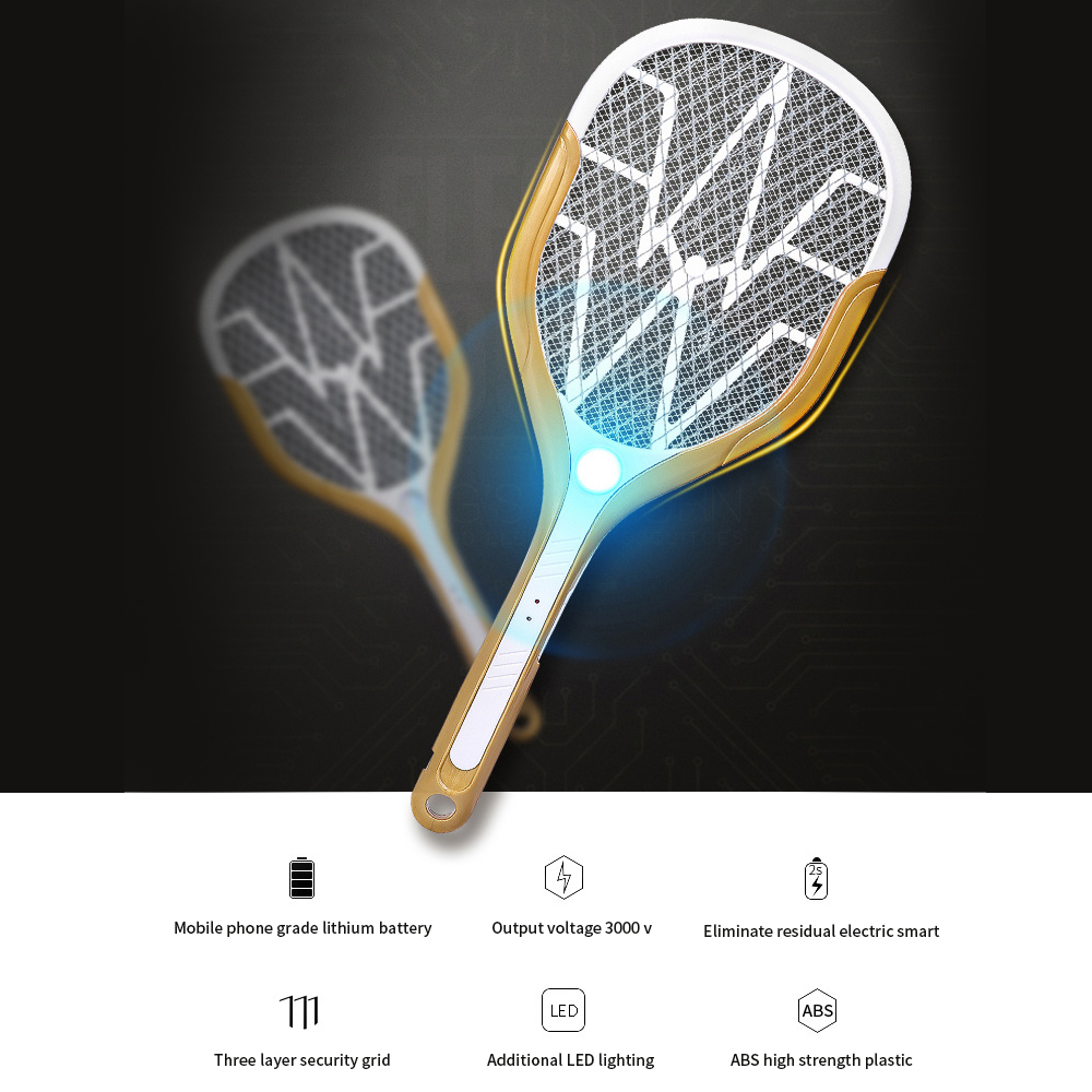 USB Charging LED Electric Mosquito Swatter Zapper Racket Insects Bug Insect Repeller Reject Killers Pest Bug
