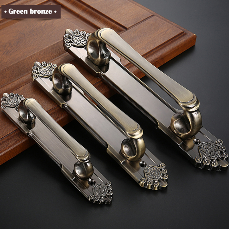 Vintage Door Handles European Style Zinc Alloy Furniture Handles and Knobs for Kitchen Cabinet Drawers Pulls one pair 64mm 96mm chinese classic style zinc alloy furniture handles pulls knobs for cabinets cupboards drawers