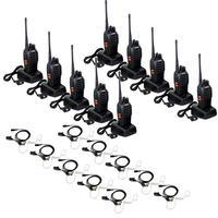 10pcs BaoFeng BF 888s Walkie Talkie UHF 5W 16CH Two Way Radio + 10x New Earpiece+russia stock