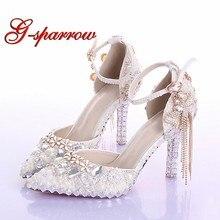 a97680aebcb Popular Ivory Wedding Shoes with Rhinestones-Buy Cheap Ivory Wedding ...