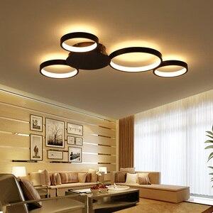 Image 1 - Kawa lub białe wykończenie nowoczesny żyrandol sufitowy Led światła do salonu Master Room AC85 265V Led żyrandol lampy