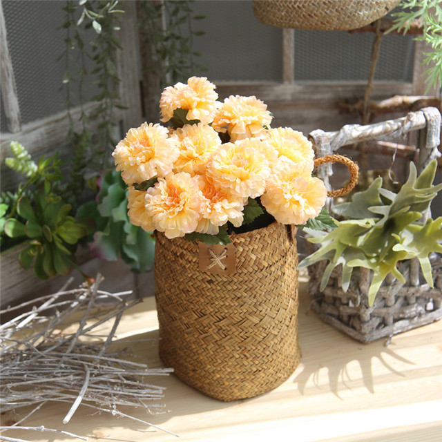 Artificial 7 Head Silk Fake Flowers Daisy Lotus Wedding Bouquet Party Home Decor Sep25 Professional Factory