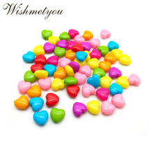 WISHMETYOU 10/12MM Love Heart Acrylic Loose Beads For Diy Wedding Party Jewelry Handmade Kids Necklaces Accessories Find Making