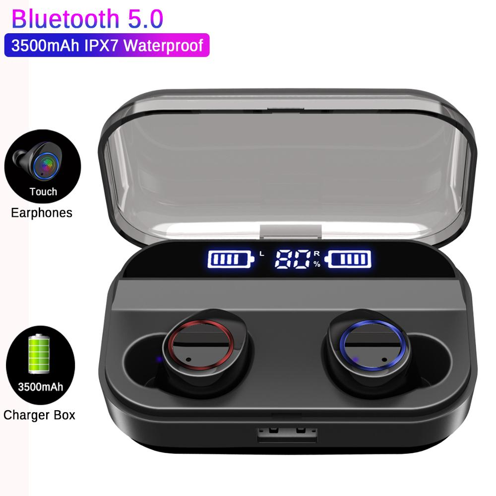 X11 TWS Wireless Bluetooth 5.0 Earphones Power Display Touch Control Sport Stereo Cordless Earbuds Headset with Charging BoxX11 TWS Wireless Bluetooth 5.0 Earphones Power Display Touch Control Sport Stereo Cordless Earbuds Headset with Charging Box