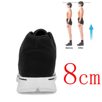 Heightening Shoes Elevator Shoes Height Increase Shoes for Men 8CM Men Casual Shoes Height Increase Insole