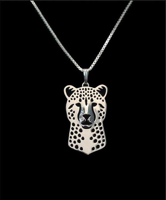 DANGGAO Fashion Handmade Cheetah Pendant Necklace Women Chain Choker Jewelry Pet Lovers Christmas Birthday Gift Idea