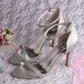 Wedopus MW673 Simple Design Ladies Fashion Sandals Summer Evening Party Silver Glitter