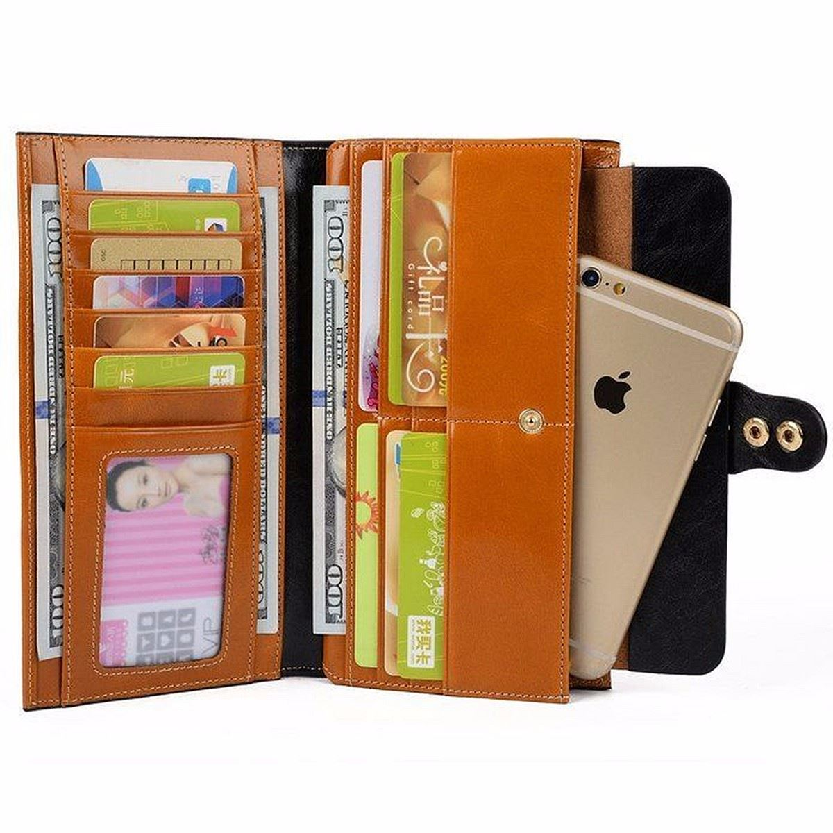 aequeen bolso do telefone bolsa Wallet Estilo 3 : Vintage Wallet Lady Purses Luxury Brand Designer