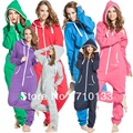 Sólido adultos onesie all-in-one piece mamelucos mono de salto en fleece zip hoody por Manera Nórdica daffedress vellón única