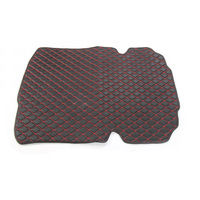 YAQUICKA Auto Car Man made Leather Trunk Cargo Liner Mat Pad For Chevrolet Camaro 2017+ Red or Gold Sewing