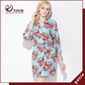 CR007 Cotton Floral Robe Floral Women Wedding Bridal Kimono Robe Flower Satin Silk Lady Spa Night Dress Free Shipping