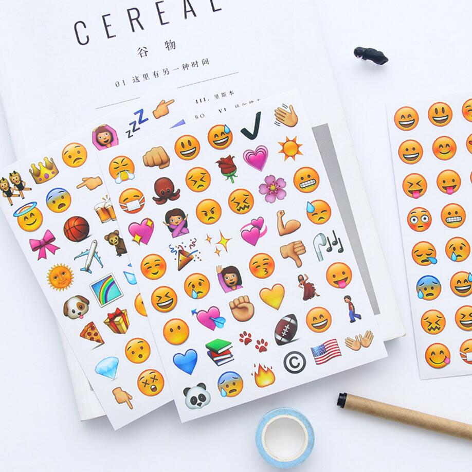 cute sticker stickers iphone emoji kawaii fun message face phone mixed funny diy notebook stationery sheets 4sheets diary pcs creative