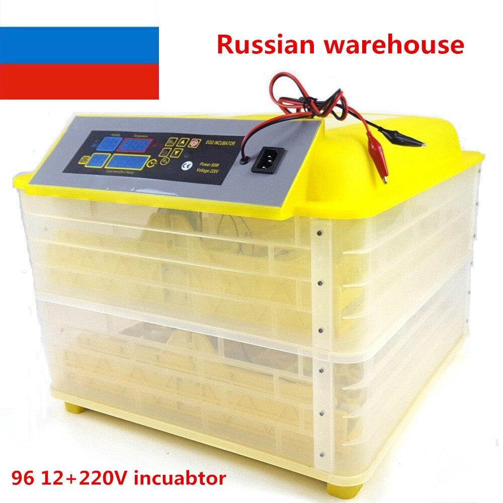 2016 Newest model Full Automatic chicken 96 eggs incubator /mini Incubator/egg hatching machine220 v  цены