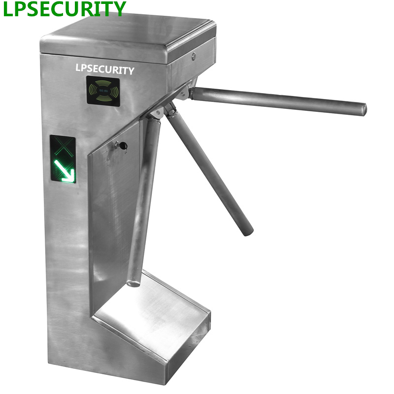 LPSECURITY stainless steel solenoid driven tripod turnstile gate barrier for access control system access control system factory price vertical semi automatic tripod turnstile gate
