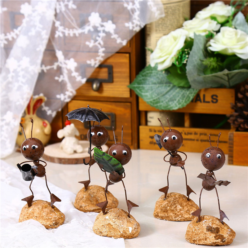 Adorable Cute Iron Ants Simple Hanging Dolls Home Furnishings Iron