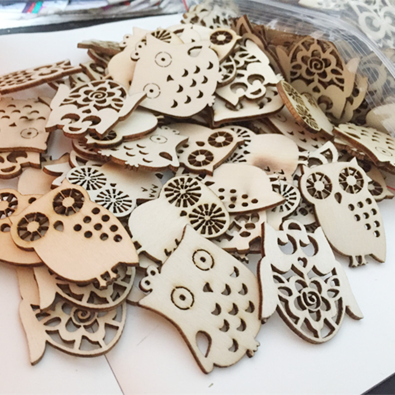 10pcs/ Wooden Owl / Wooden eagle /home decoration/children gifts/DIY/Lovely/