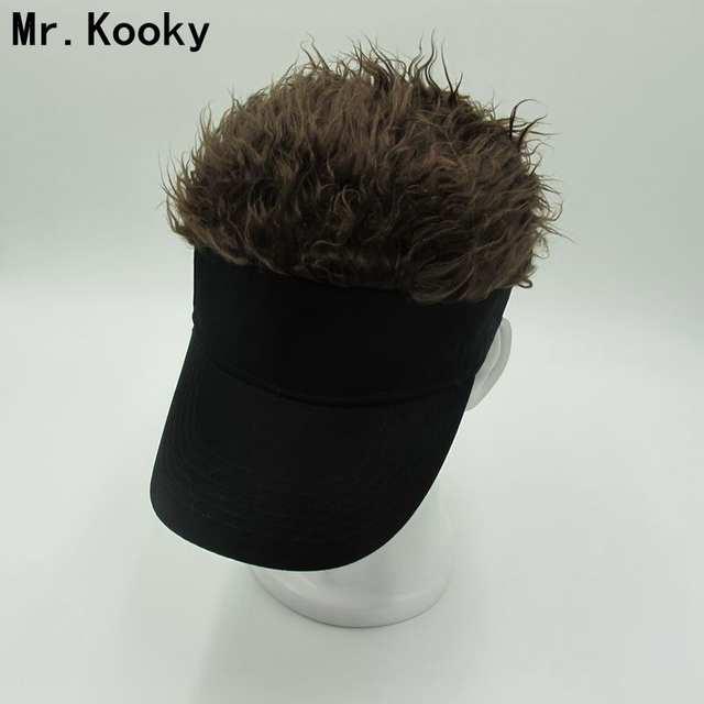 9a9d04b121ec3 placeholder Mr.Kooky Hot New Fashion Novelty Baseball Cap Fake Flair Hair  Sun Visor Hats Men's