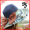 Hot Fashion Fashion lady Summer Sun Hat for women wide brim floppy Straw Hat with big bowknot Collapsible Beach Hat