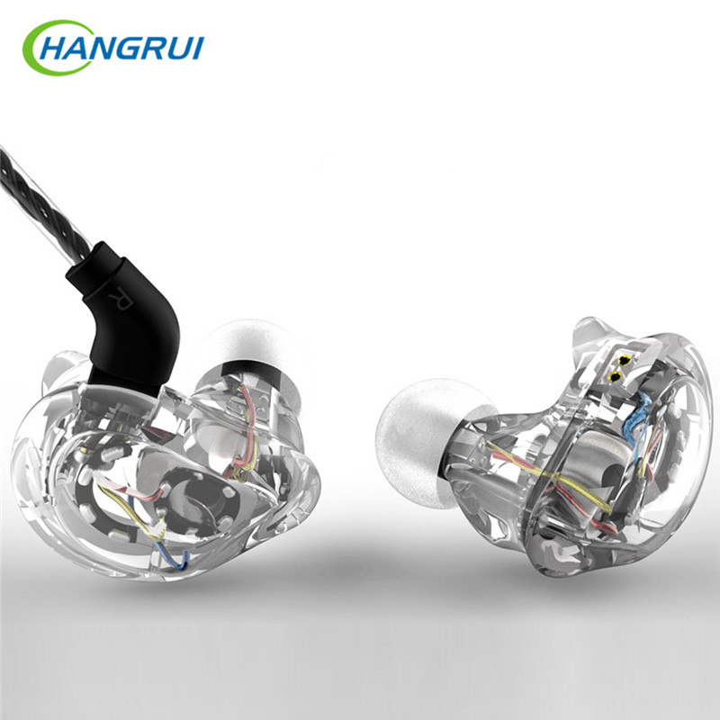HANGRUI HIFI Earphone Hybrid 8 Drivers DJ Monitor Sport Headphones Headset With 2PIN interface pk KZ ZS5 zs6 for mobile phone genuine xiaomi hybrid earphone auricolariin ear hifi headset microphone pro multi unit circle iron headphones mobile earphones