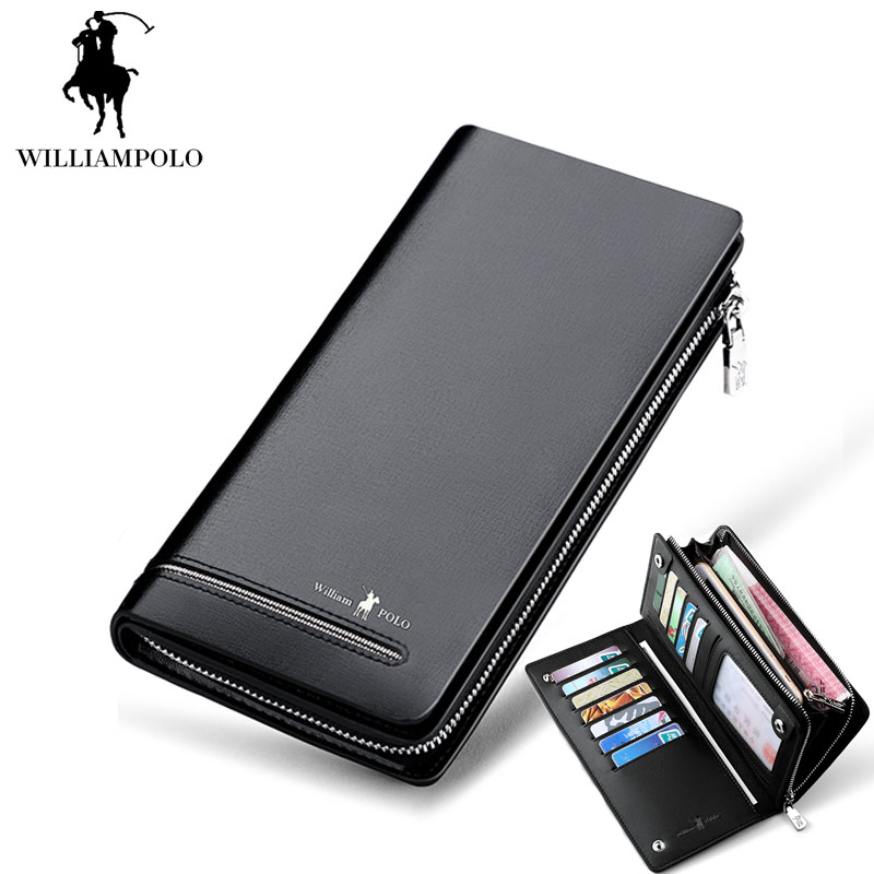 Waterproof Men Wallet Zipper&Hasp Male Portomonee Coin Purse Brand Perse Carteira For Rfida Luxury Genuine Leather Men Wallets